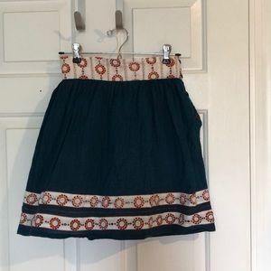 Mata Traders teal and orange boho skirt